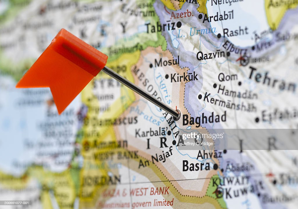 Map Of Iraq And Neighboring Countries Stock Photo Getty Images - Us map close up