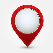 Map pointer icon. - Illustration