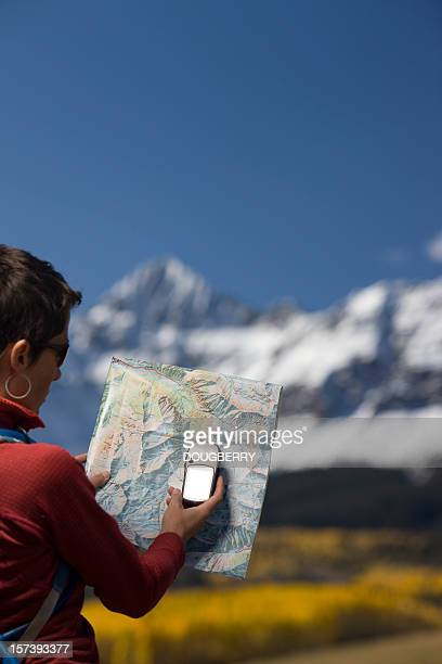 Map reading with GPS