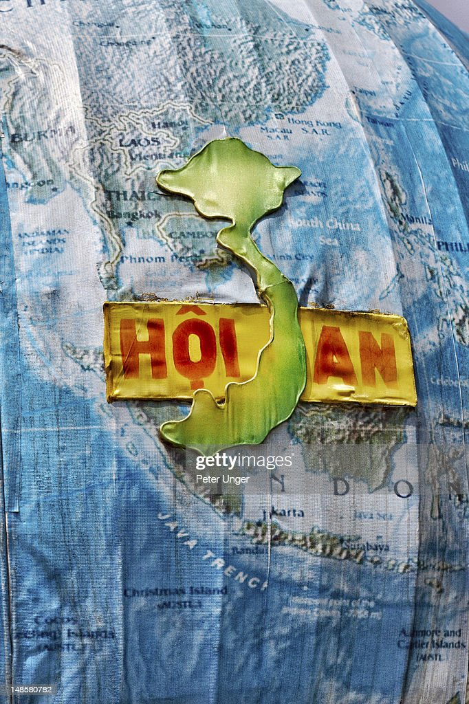 Map sculpture in Old Town. : Stock Photo