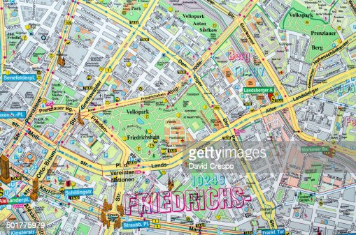 Map Showing East And West Berlin Stock Photo Getty Images - Berlin map east west