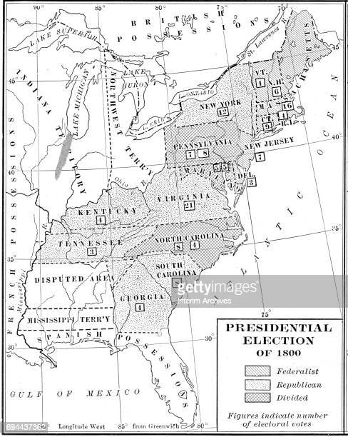 Us Presidential Election Stock Photos And Pictures Getty Images - Us map showing electoral votes