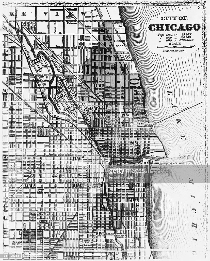 Glossops Hotel Business And Amusement Map Frank Glossop  Mr - Chicago fire map