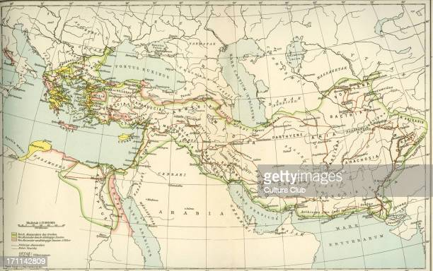 Map showing the empire of Alexander the Great