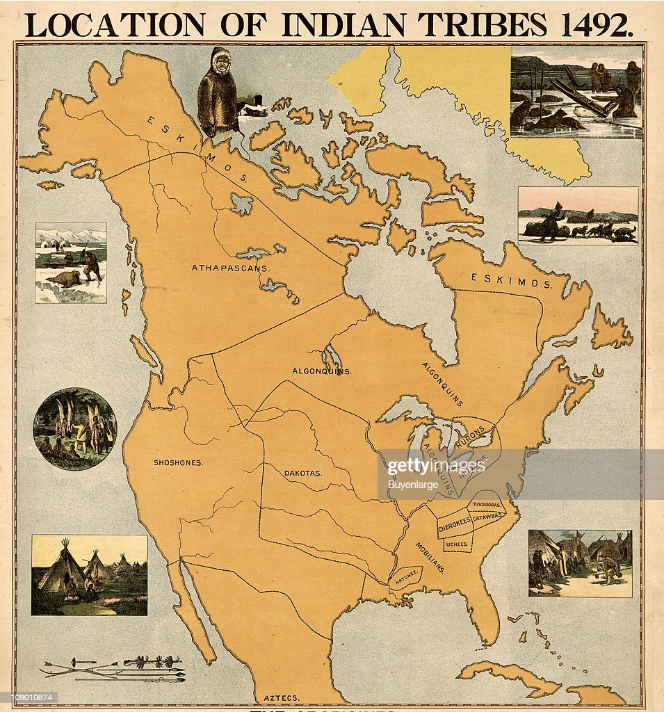 Native American Map Usa - Us map of indian territories