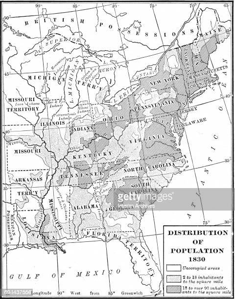 Map Of The United States Of America Stock Photos And Pictures - Map of us territories in 1830