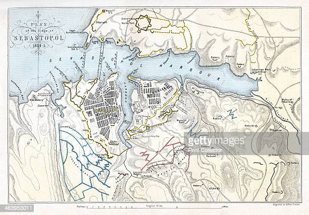 Map showing the Siege of Sevastopol Crimean War 18541855 The Siege of Sevastopol lasted from September 1854 until September 1855 In September 1854...