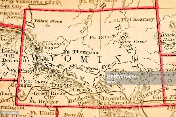 Map showing the state of Wyoming