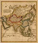 Map shows Asia 1817