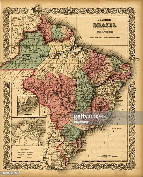 A map shows Brazil and Guyana with small insets of Rio de Janeiro and the port city of Pernambuco 1871