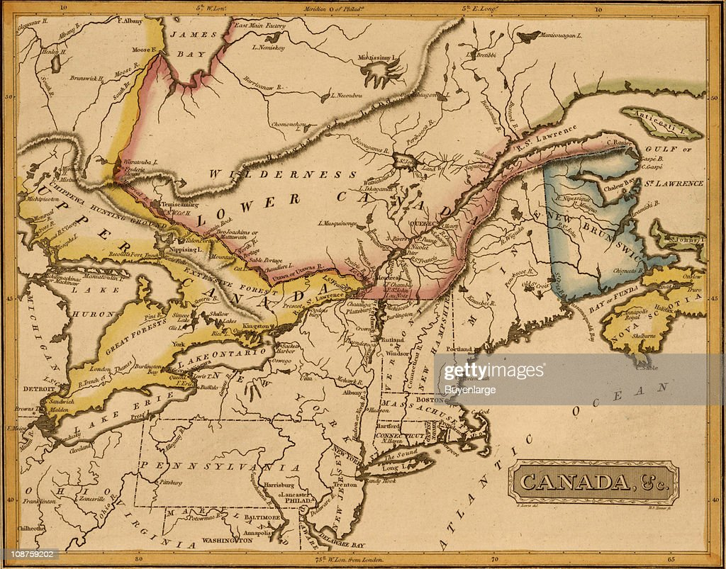 map of canada 1817 pictures getty images