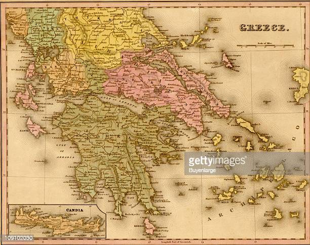 A map shows Greece 1844