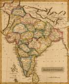 Map shows 'Hindoostan' or modernday India 1817