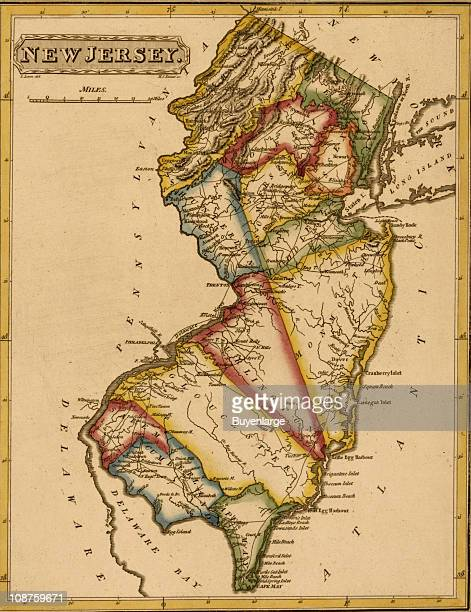 Map shows New Jersey 1817