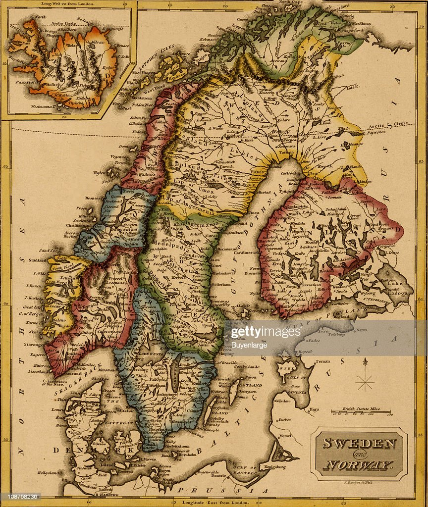 Map Of Sweden Norway Pictures Getty Images - Us map sweden