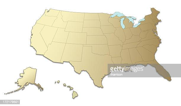 US Map South to North
