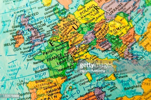 Map view of Europe. : Foto de stock