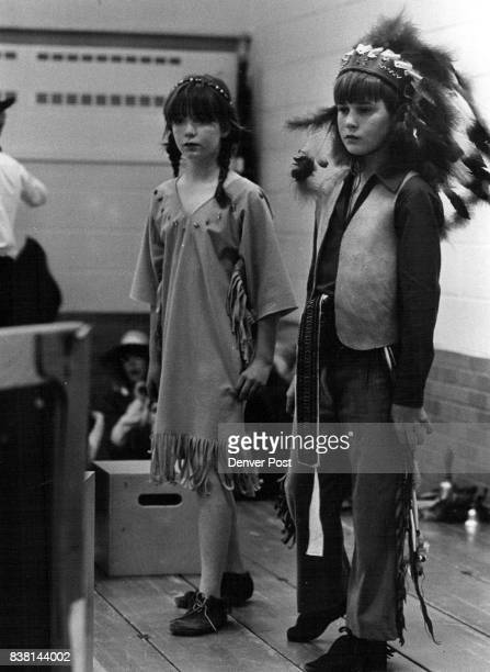 Maple Grove Elementary School Historical dressup day Indians wife Dana Brown Ute Indian Sean Knox Credit The Denver Post