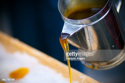 Maple syrup on ice