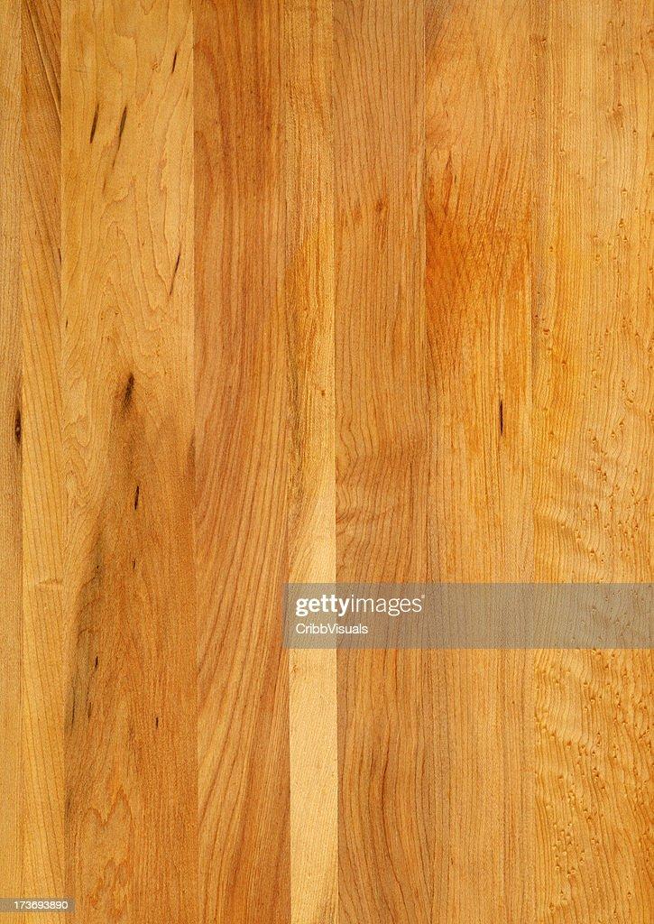 Maple wood grain butcher block background stock photo