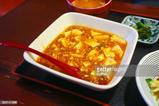 Mapo doufu served in a Japanese restaurant in Tokyo