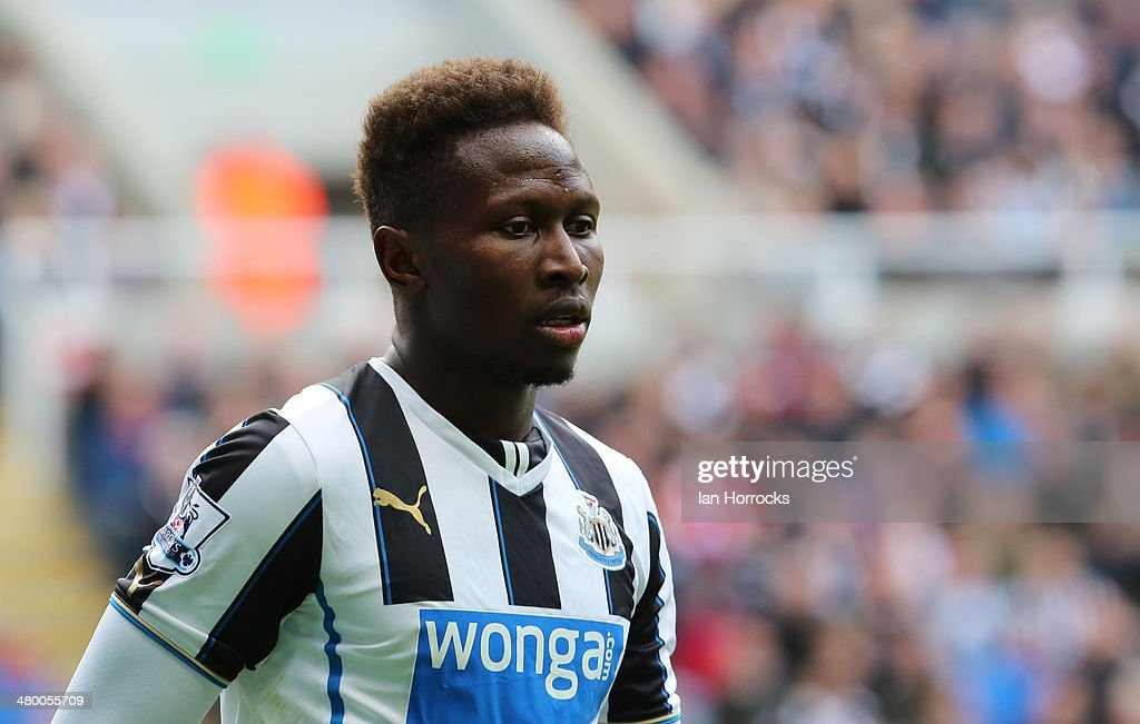 Mapou Yanga-Mbiwa of Newcastle United the Barclays Premier League match between Newcastle United and Crystal Palace at St James' Park on March 22, 2014 in Newcastle upon Tyne, England.