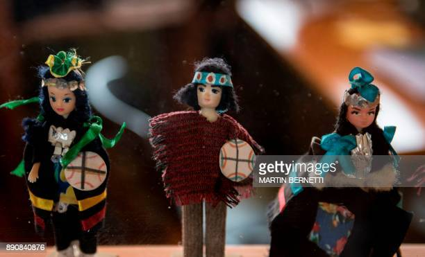 Mapuche Chilean teacher Flora Collonao poses at a school for Mapuche children in Temulemu November 092017 The Mapuches which represent about 7% of...