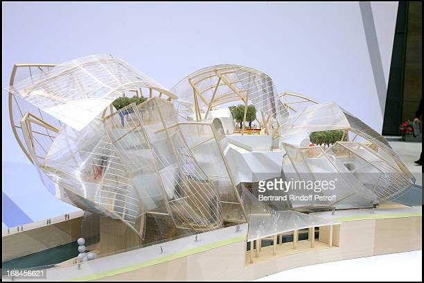 Maquette of the future Louis Vuitton foundation Press conference at the head office of Lvmh in paris for the foundation 'Louis Vuitton Pour La...