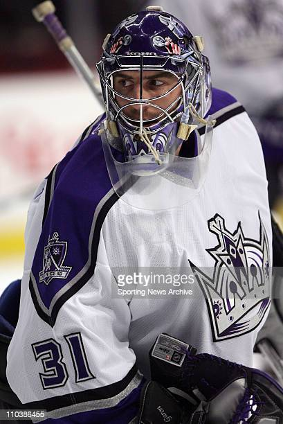 Mar 06 2007 Chicago IL USA Los Angeles Kings MATHIEU GARON against Chicago Blackhawks at the United Center in Chicago Ill on March 6 2007 The...