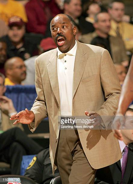 Mar 15 2007 WinstonSalem NC USA Texas Tech against Boston College head coach Al Skinner during the first round of the NCAA basketball tournament at...