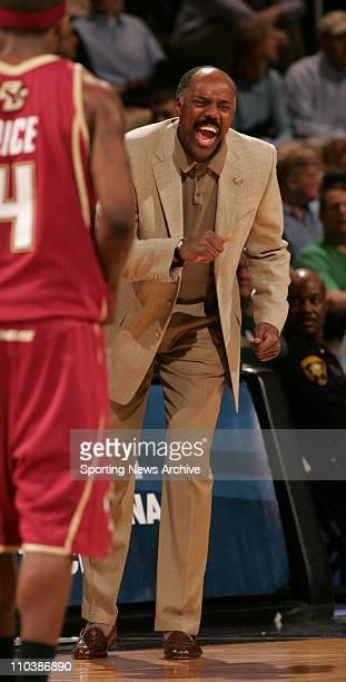 Mar 17 2007 Winston Salem NC USA Boston College coach AL SKINNER against Georgetown during the second round of the NCAA basketball tournament at the...