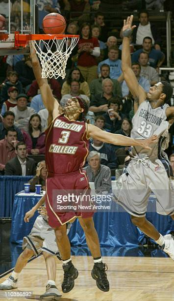 Mar 17 2007 Winston Salem NC USA Boston College JARED DUDLEY against Georgetown PATRICK EWING JR during the second round of the NCAA basketball...