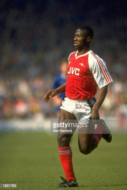 Kevin Campbell of Arsenal in action during a Barclays League Division One match against Everton at the Highbury Stadium in London Arsenal won the...