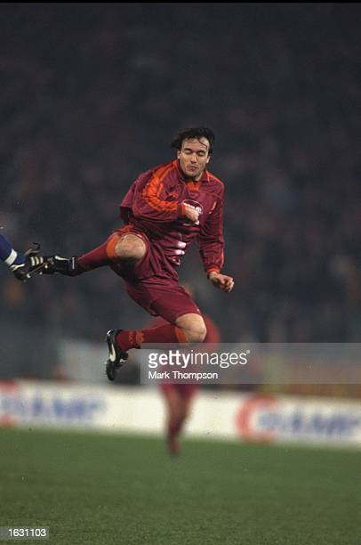 Abel Balbo of Roma in action during the UEFA Cup quarterfinal against Sparta Prague at the Olympic Stadium in Rome Roma won the match 31 Mandatory...