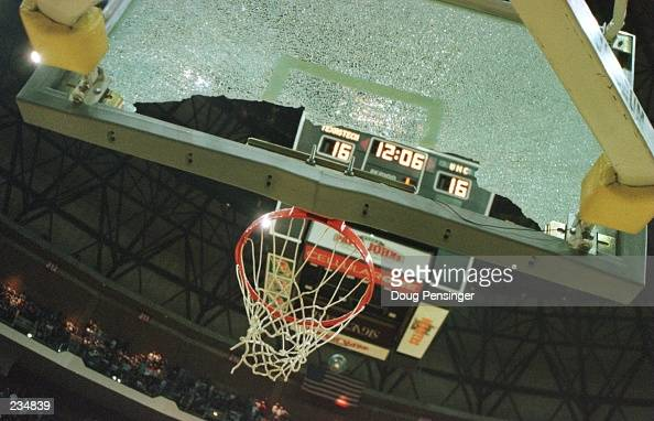 Darvin Ham of the Texas Tech Red Raiders halted the NCAA East Regional Tournament game in the first half with a backboard shattering dunk at the...