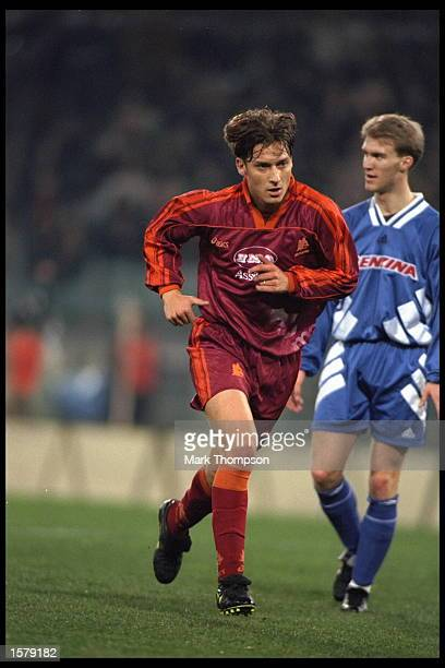 Francesco Totti of Roma in action during the UEFA Cup game against Sparta Prague