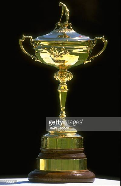 The Ryder Cup trophy on display during the Dubai Desert Classic at the Emirates GC in Dubai Mandatory Credit David Cannon /Allsport