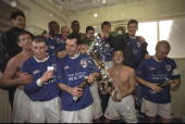Chesterfield celebrate after the FA cup quarter final victory over Wrexham at Saltigate Chesterfield Chesterfield won 10 Mandatory Credit Ross...