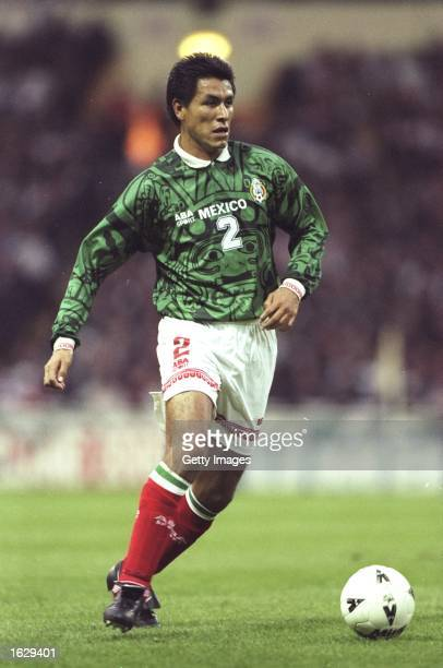 Claudio Suarez of Mexico in action during the International Friendly against England at Wembley in London England won 20 Mandatory Credit Allsport UK...