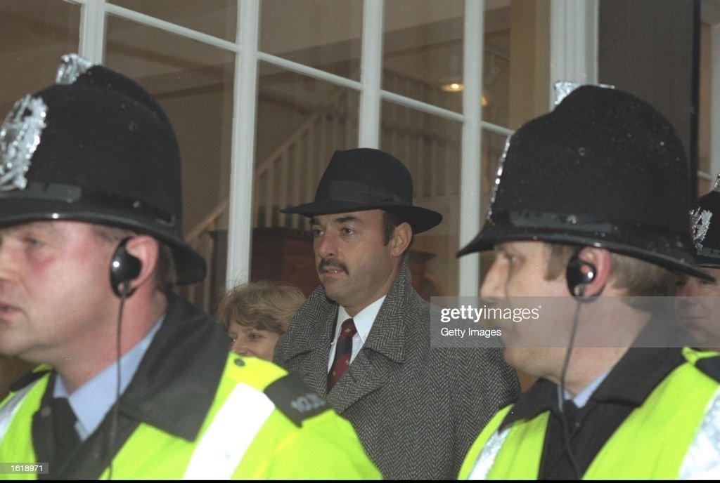 Ex Liverpool goalkeeper Bruce Grobbelaar at court during the football match fixing trial Mandatory Credit Allsport UK /Allsport