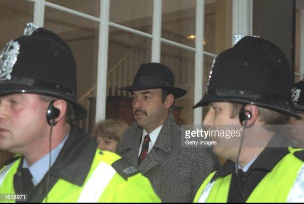 Ex Liverpool goalkeeper Bruce Grobbelaar at court during the football match fixing trial Mandatory Credit Allsport UK /Allsport