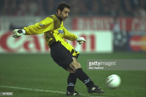 Jose Molina of Atletico Madrid in action during the European Champions League Quarter Final against Ajax at the Ajax Arena Amsterdam The game was...
