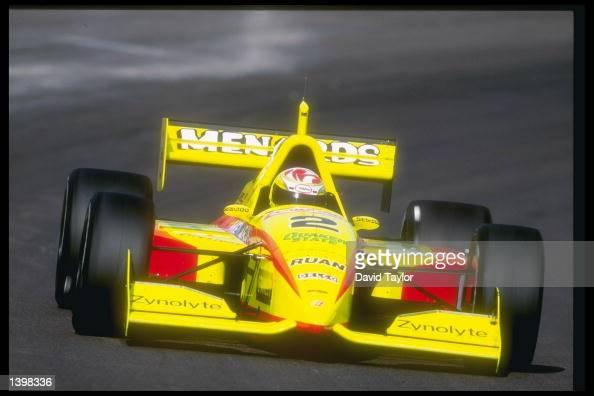 Tony Stewart makes a mark during DuraLube 200 Indy Racing League at the Phoenix International Raceway in Phoenix Arizona
