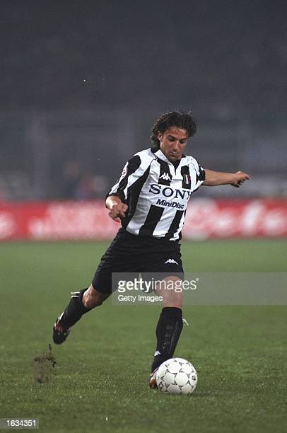 Alessandro Del Piero in action during the match between Juventus and Milan in the Italian Serie A played at the Stadio delle Alppi Turin Italy...