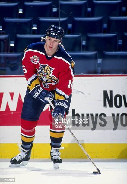 Ryan Johnson of the Florida Panthers in action during a game against the Buffalo Sabres at the Marine Midland Arena in Buffalo New York The Sabres...