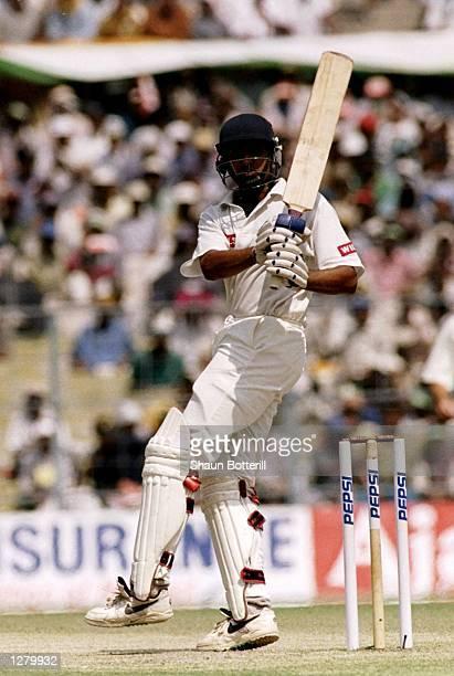 Vangipurappu Venkata Sai Laxman of India in action during the Second Test against Australia at Eden Gardens in Calcutta India Mandatory Credit Shaun...