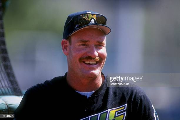 Wade Boggs of the Tampa Bay Devil Rays during the Devil Rays 205 spring training loss to the Minnesota Twins at Hammond Stadium in Fort Myers Florida
