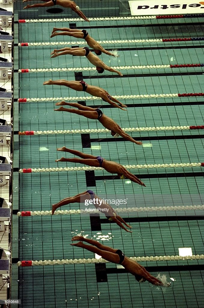 A clean start to the Mens 1500m Freestyle at the 1999 Australian Open Championships and Pan Pacific Selection Trials from the Chandler Aquatic Centre, Brisbane, Australia. \ Mandatory Credit: Adam Pretty /Allsport