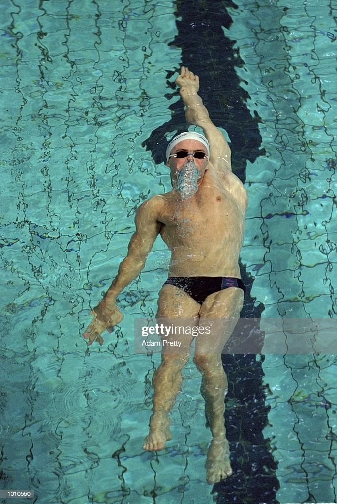 Adrain Radley of Australia in action during the Mens 50m Backstroke during the 1999 Australian Open Championships and Pan Pacific Selection Trials in Brisbane, Australia. \ Mandatory Credit: Adam Pretty /Allsport