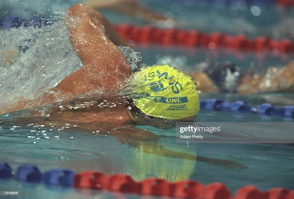 Chris Fydler of Australia on his way to winning the Mens 50m Freestyle during the 1999 Australian Open Championships and Pan Pacific Selection Trials in Brisbane, Australia. \ Mandatory Credit: Adam Pretty /Allsport